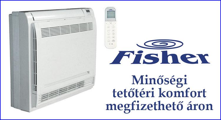 Fisher padlóra állítható, oldalfali klíma tetőterekhez gazdaságos hűtéséhez és fűzéséhez